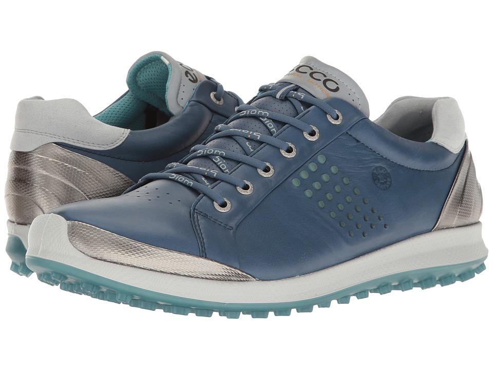 ECCO Golf - BIOM Hybrid 2 (Denim Blue/Aquatic) Men's Golf Shoes
