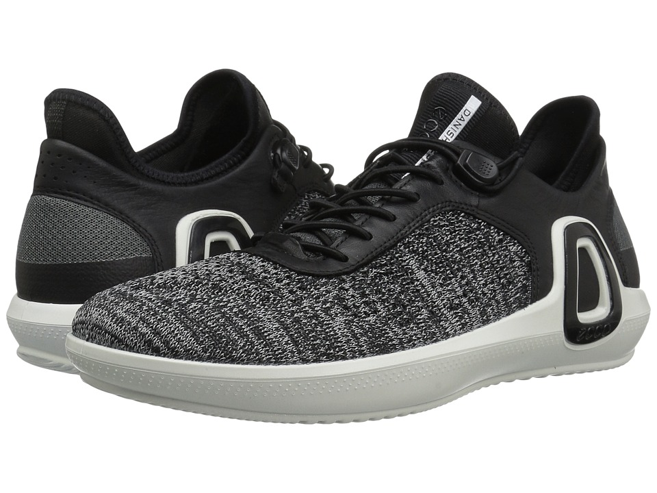 ECCO Sport - Intrinsic 3 Textile (Black Concrete/Black) Men's Lace up casual Shoes