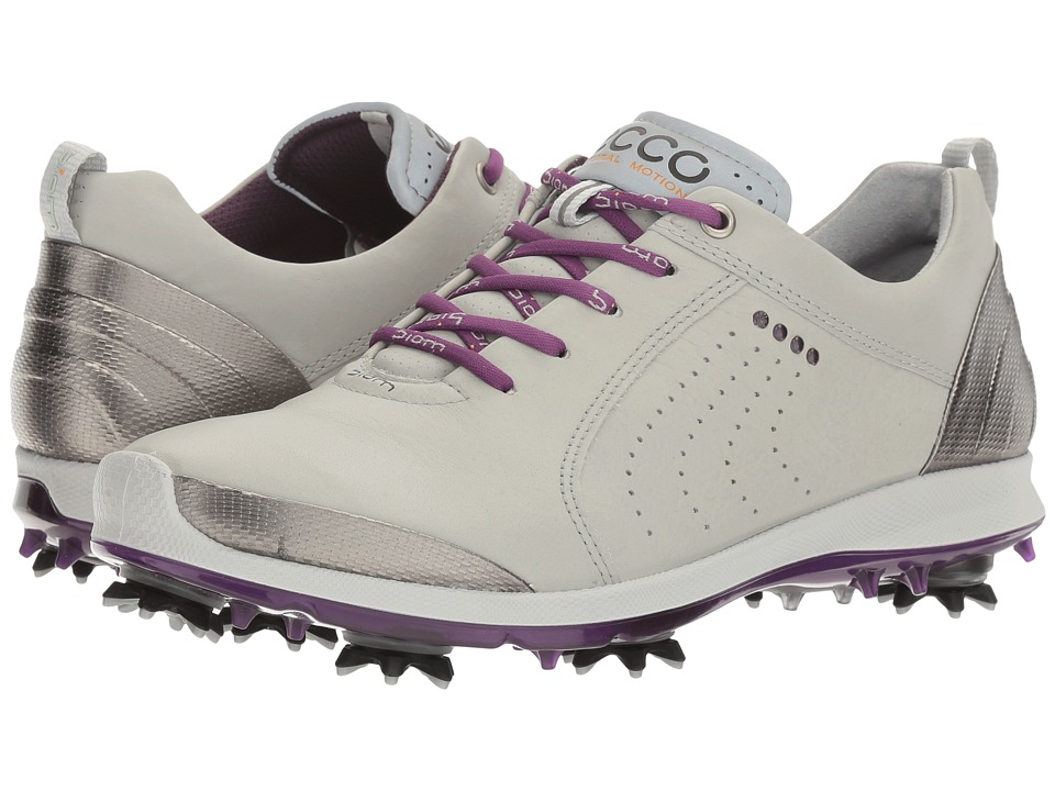 ECCO Golf - BIOM G 2 Free (Concrete/Imperial Purple) Women's Golf Shoes