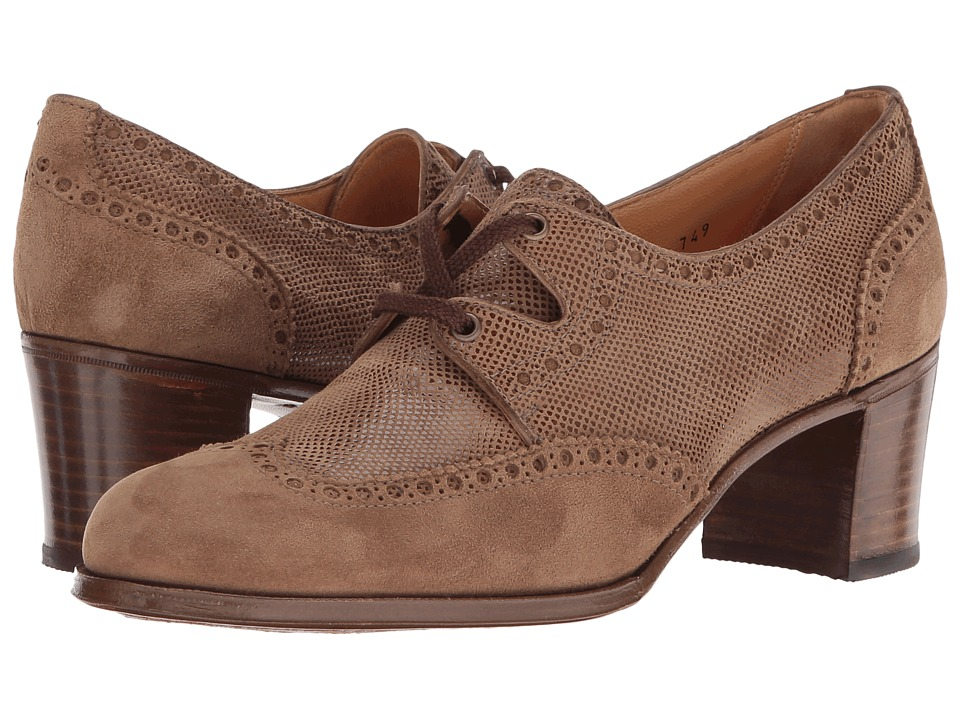 Gravati Wingtip Heel (Brown/Brown) Women