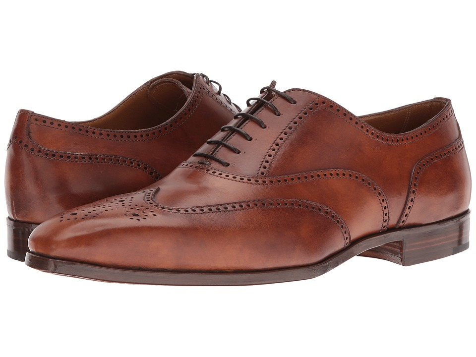 Gravati - Wingtip Oxford (Cognac) Men's Lace Up Wing Tip Shoes