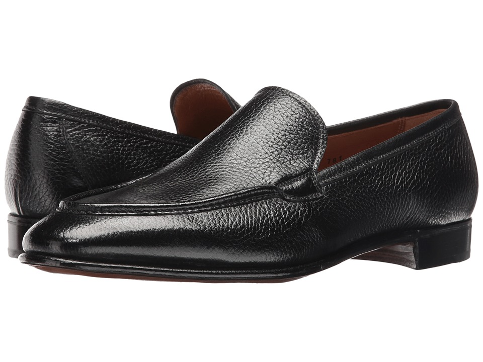 Gravati - Deerskin Venetian Loafer (Black) Men's Shoes