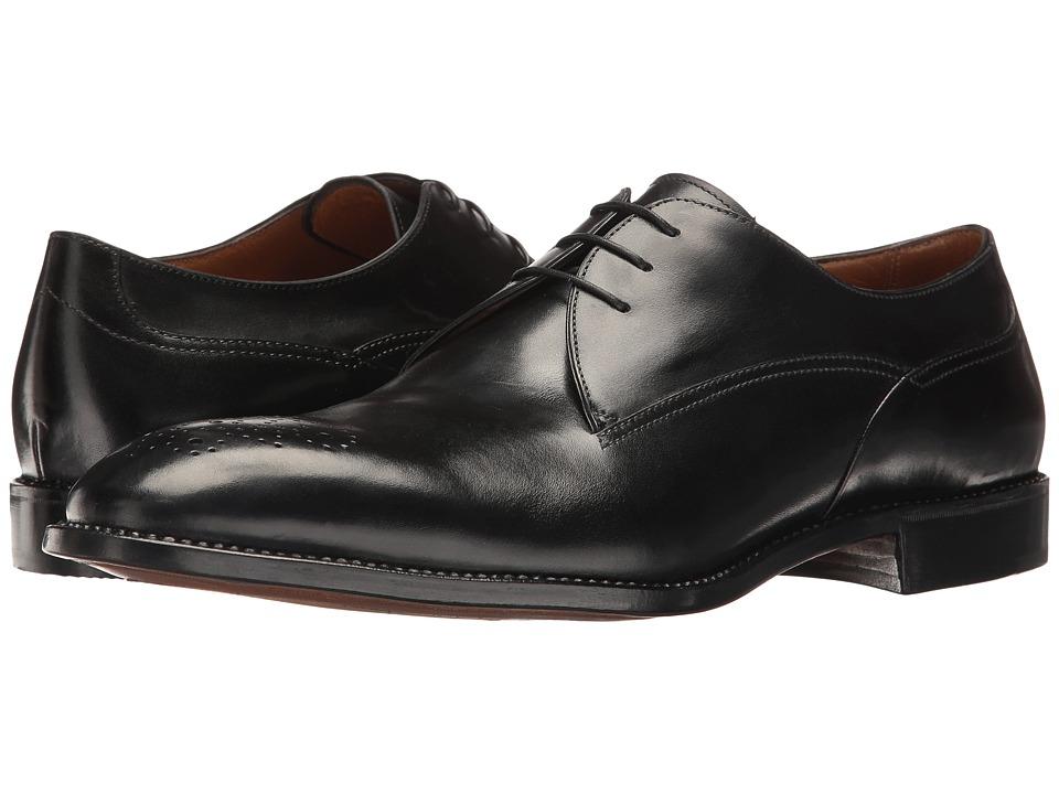 Gravati - Blucher w/ Perforated Medallion (Black) Men's Shoes