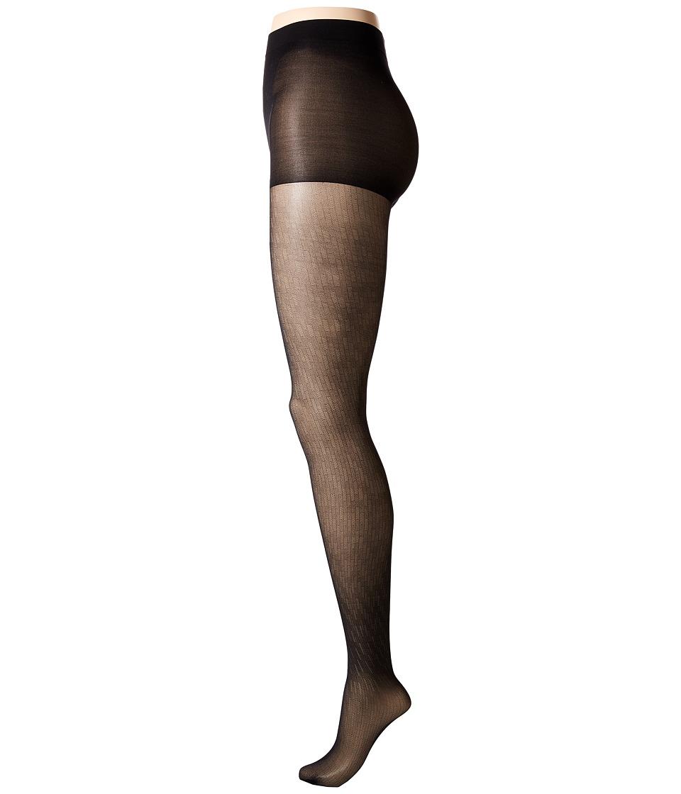 Calvin Klein - Herringbone Sheer w/ Control Top (Black) Control Top Hose