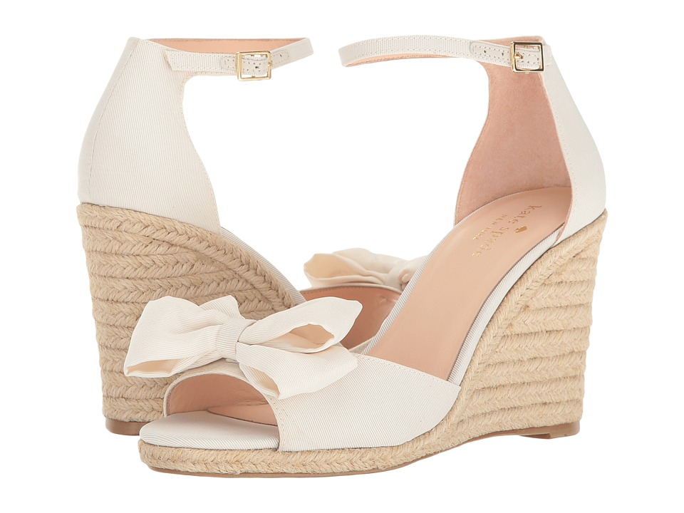 Kate Spade New York - Broome (Ivory Grosgrain) Women's Shoes