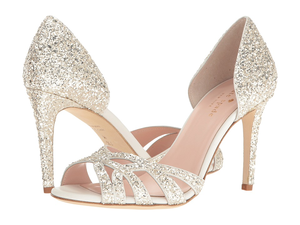 Kate Spade New York - Idaya (Crystal Glitter/Off-White Nappa) Women's Shoes