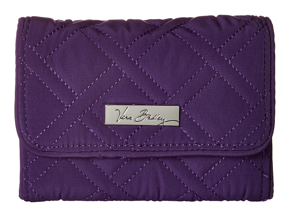 Vera Bradley - Riley Compact Wallet (Elderberry) Bill-fold Wallet