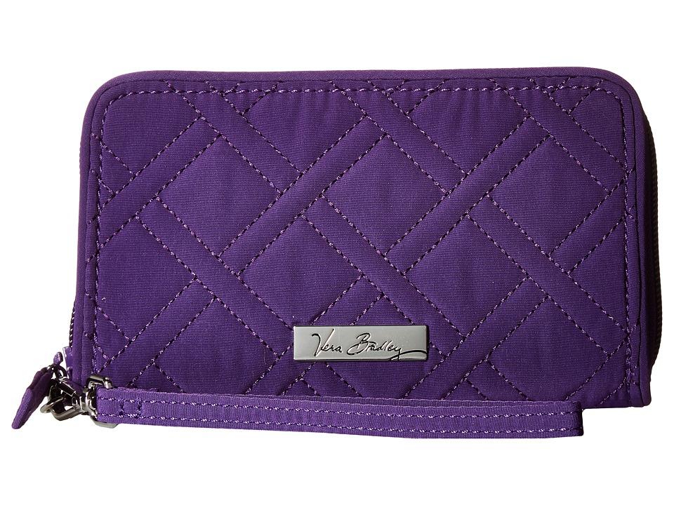 Vera Bradley - RFID Grab Go Wristlet (Elderberry) Wristlet Handbags