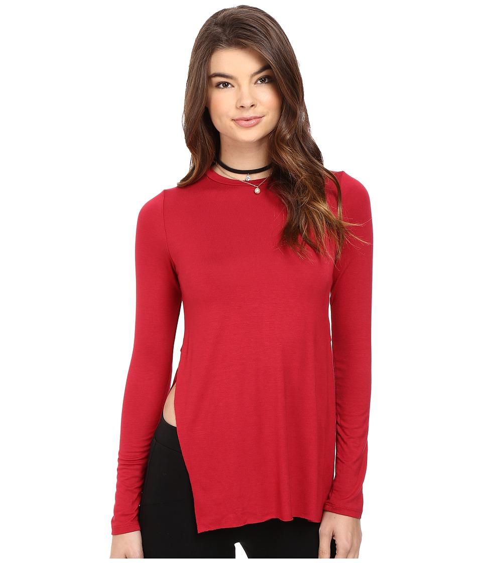 Clayton - Tim Top (Crimson) Women's Clothing