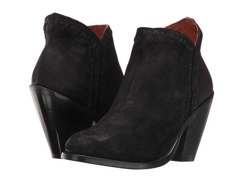 Dan Post Marlena (Black Nubuck Fashion Round Toe) Cowboy Boots