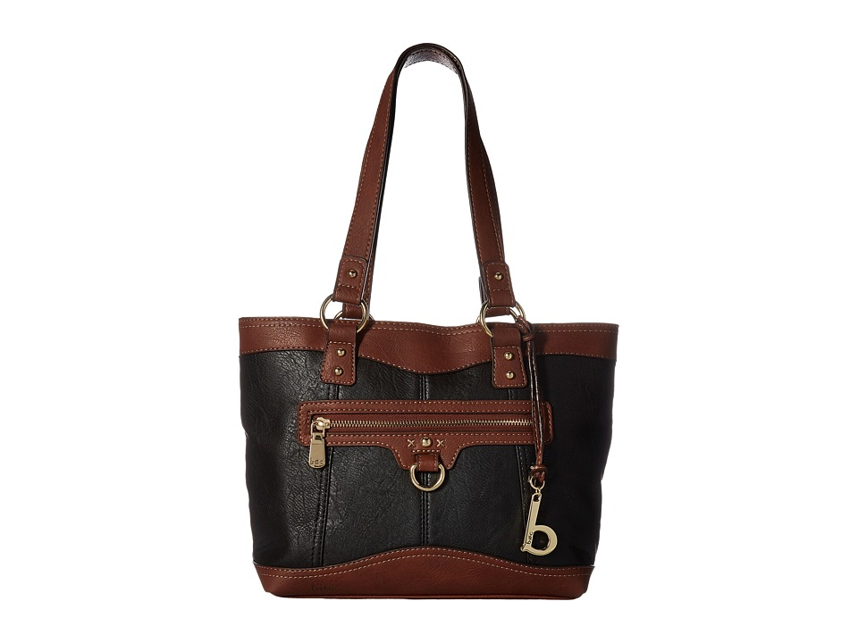 b.o.c. - Tallmadge Tote (Black/Walnut) Tote Handbags