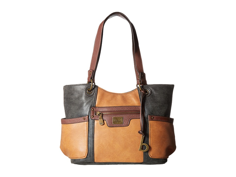 b.o.c. - Barberton Tote (Tan/Charcoal/Walnut) Tote Handbags