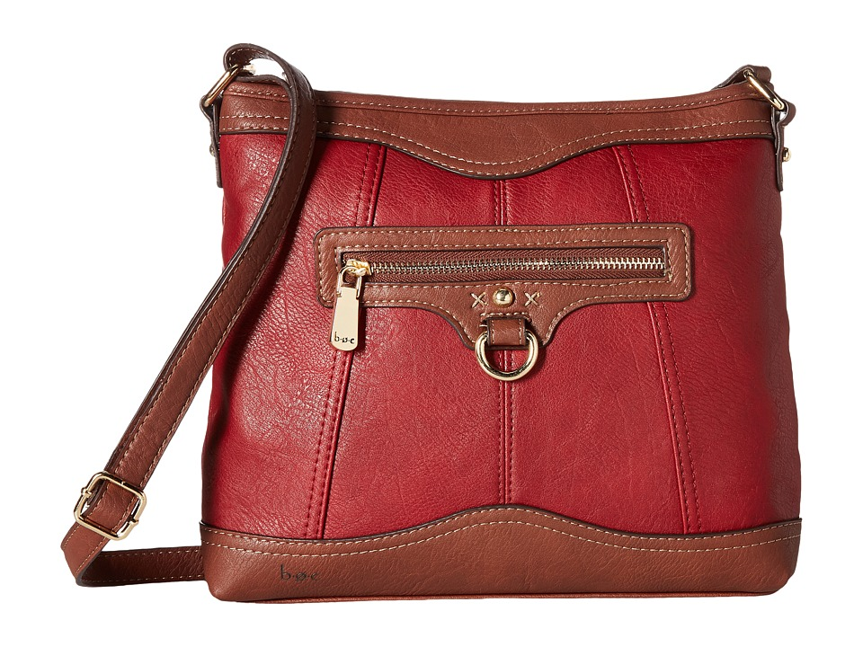 b.o.c. - Tallmadge Crossbody (Burgundy/Walnut) Cross Body Handbags