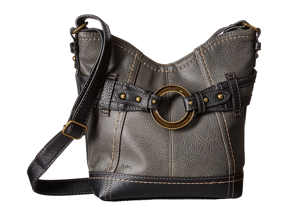 b.o.c. - Brimfield Crossbody (Charcoal/Black) Cross Body Handbags