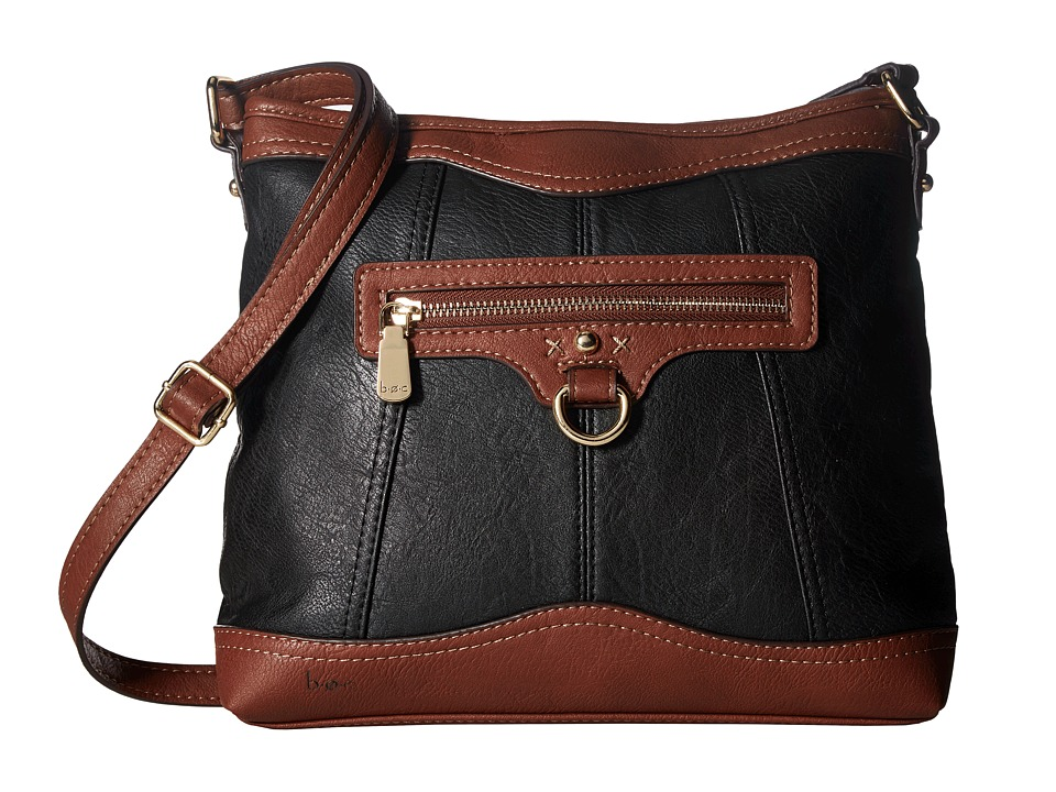 b.o.c. - Tallmadge Crossbody (Black/Walnut) Cross Body Handbags