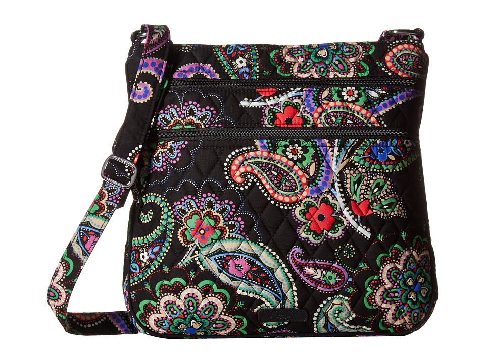 Vera Bradley - Keep Charged Triple Zip Hipster (Kiev Paisley) Handbags