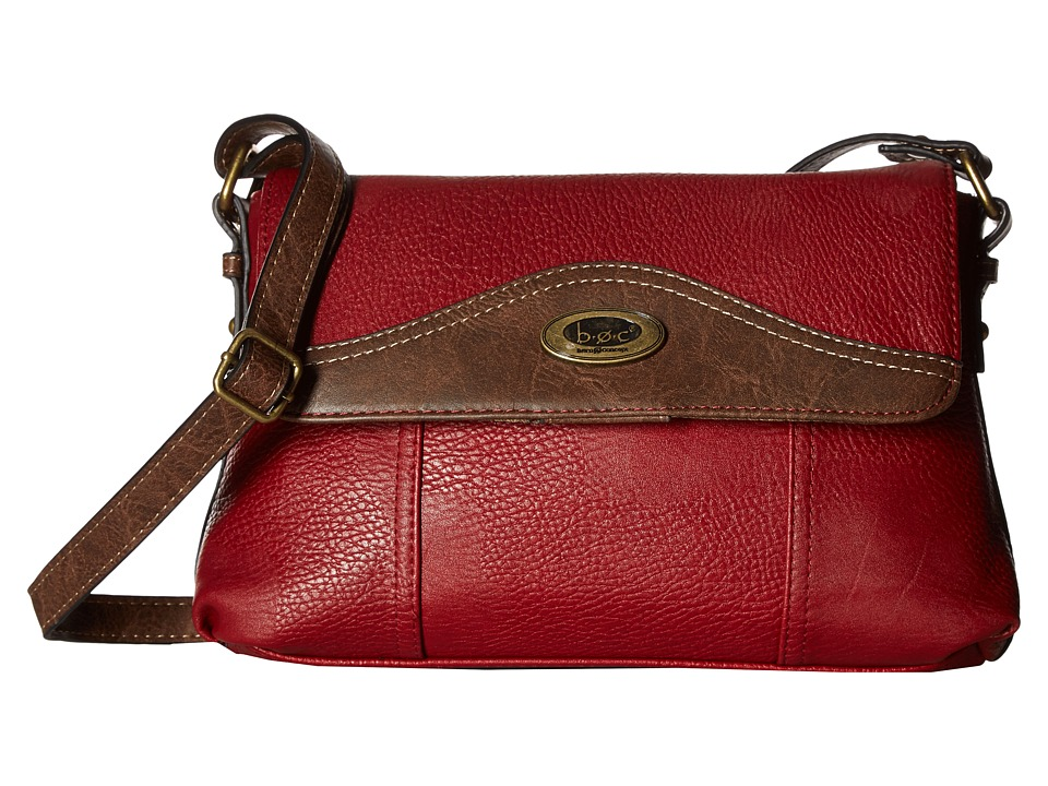 b.o.c. - Potomac Crossbody with Power Bank (Burgundy/Chocolate) Cross Body Handbags