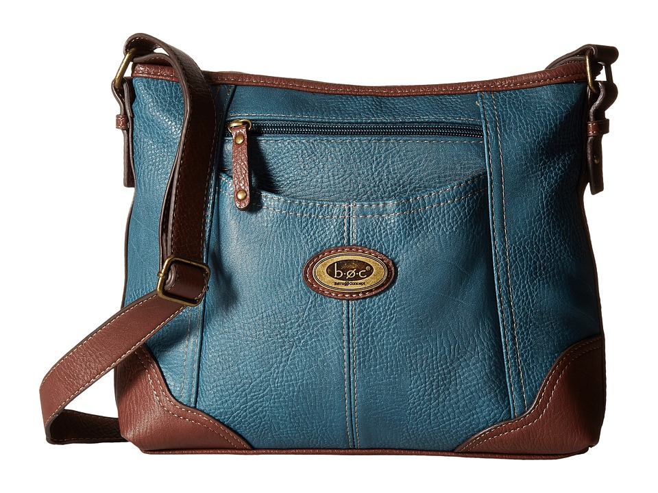 b.o.c. - Coshocton Crossbody with Power Bank (Dark Blue) Cross Body Handbags
