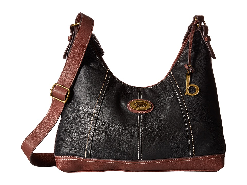 b.o.c. - Coshocton Hobo with Power Bank (Black/Walnut) Hobo Handbags