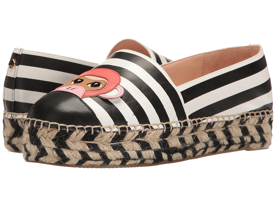 Kate Spade New York - Lincoln (Black/White Stripe/Black Nappa) Women's Shoes