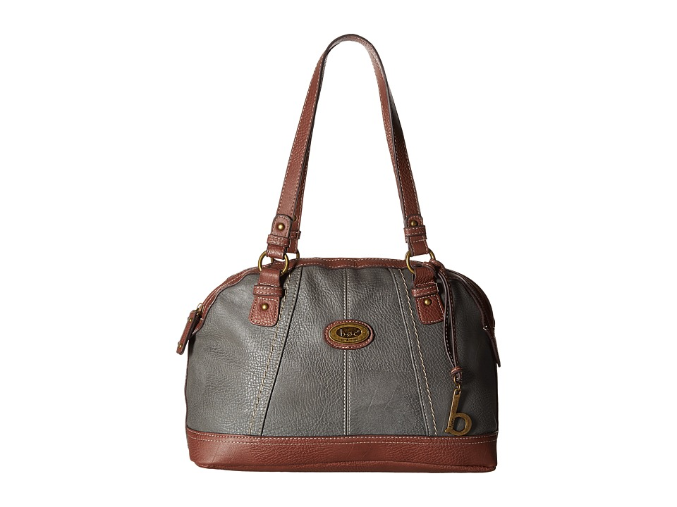 b.o.c. - Coshocton Satchel with Power Bank (Charcoal/Walnut) Satchel Handbags