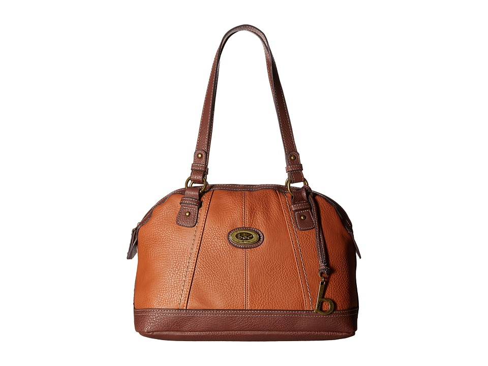 b.o.c. - Coshocton Satchel with Power Bank (Saddle/Walnut) Satchel Handbags