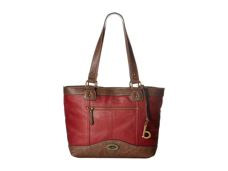 b.o.c. - Potomac Tote with Power Bank (Burgundy/Chocolate) Tote Handbags