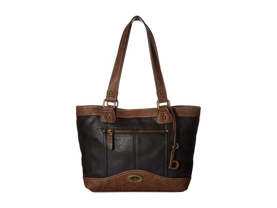 b.o.c. - Potomac Tote with Power Bank (Black/Chocolate) Tote Handbags