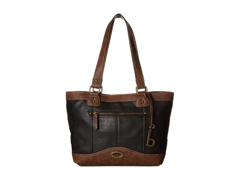 b.o.c. - Potomac Tote with Power Bank (Black/Chocolate) Tote Handbags