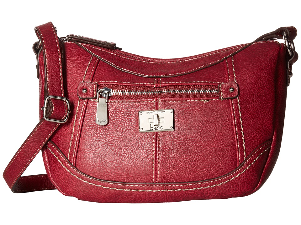 b.o.c. - Oberlin Jelly Bean Crossbody (Burgundy) Cross Body Handbags