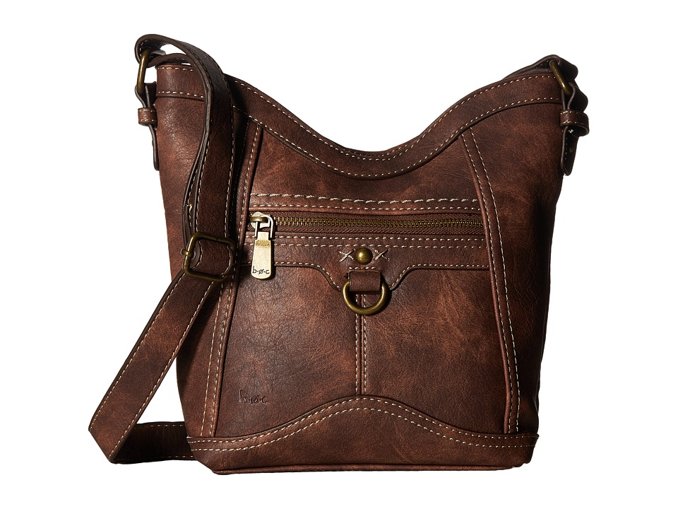 b.o.c. - Mansfield Tulip Crossbody (Chocolate) Cross Body Handbags