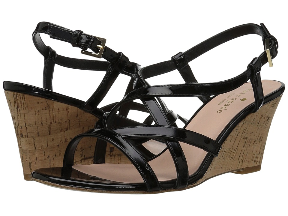 Kate Spade New York - Rockaway (Black Patent/Natural Cork) Women's Shoes