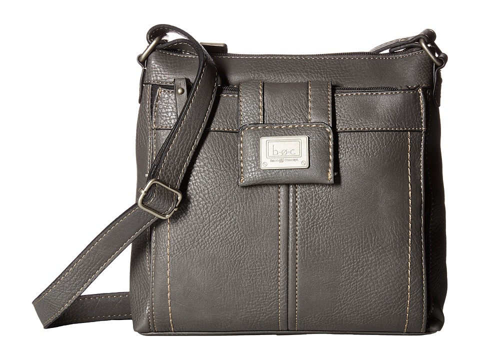 b.o.c. - Trumbull Crossbody with Organizer (Charcoal) Cross Body Handbags