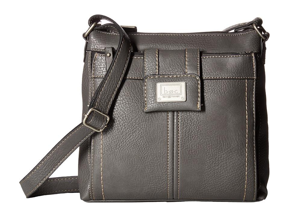 b.o.c. - Trumbull Crossbody with Organizer (Charcoal) Cross Body Handbags