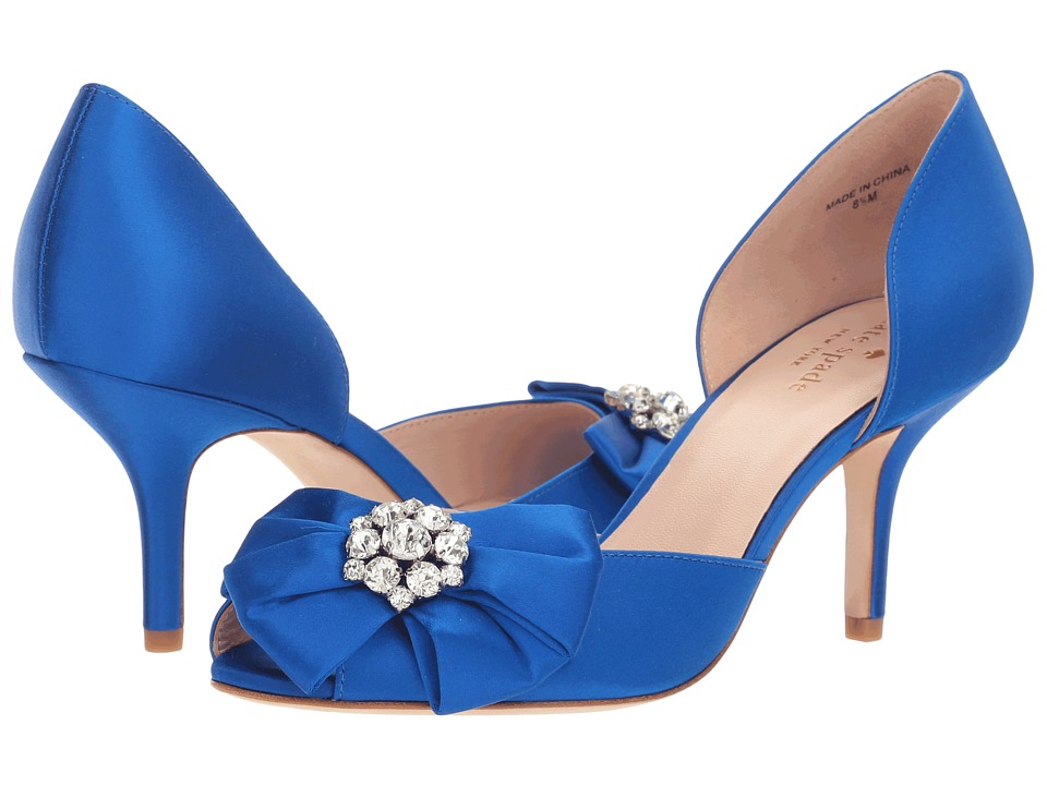 Kate Spade New York - Santarosa (Cobalt Satin) Women's Shoes