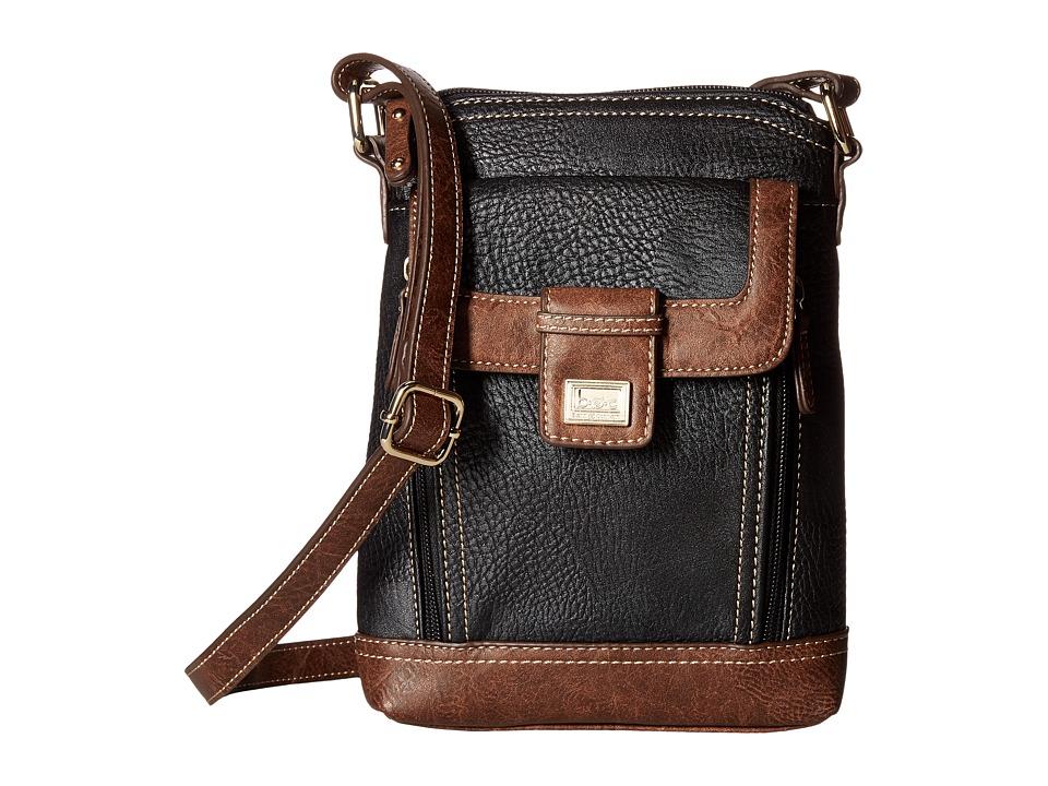 b.o.c. - Fosterton North/South Organizer (Black) Handbags