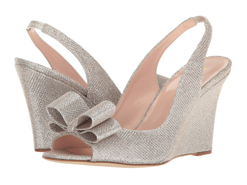 Kate Spade New York - Irene (Silver/Natural Grid Lurex) Women's Shoes