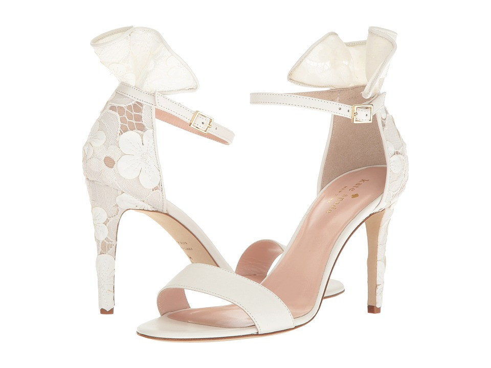 Kate Spade New York - Iris (Off-White Nappa/Flower Lace) Women's Shoes