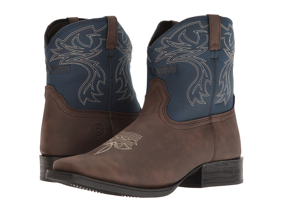 Durango Kids - Lil' Outlaw 6 Western Blue (Toddler/Little Kid/Big Kid) (Brown/Blue) Cowboy Boots