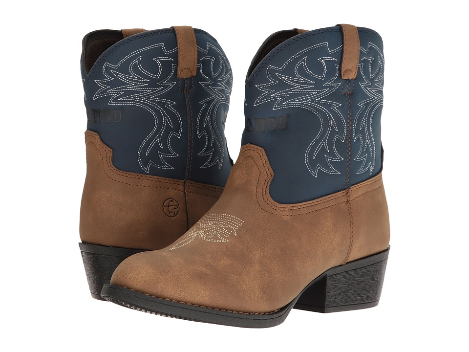 Durango Kids - Lil' Outlaw 6 Western Blue (Toddler/Little Kid/Big Kid) (Tan/Blue) Cowboy Boots