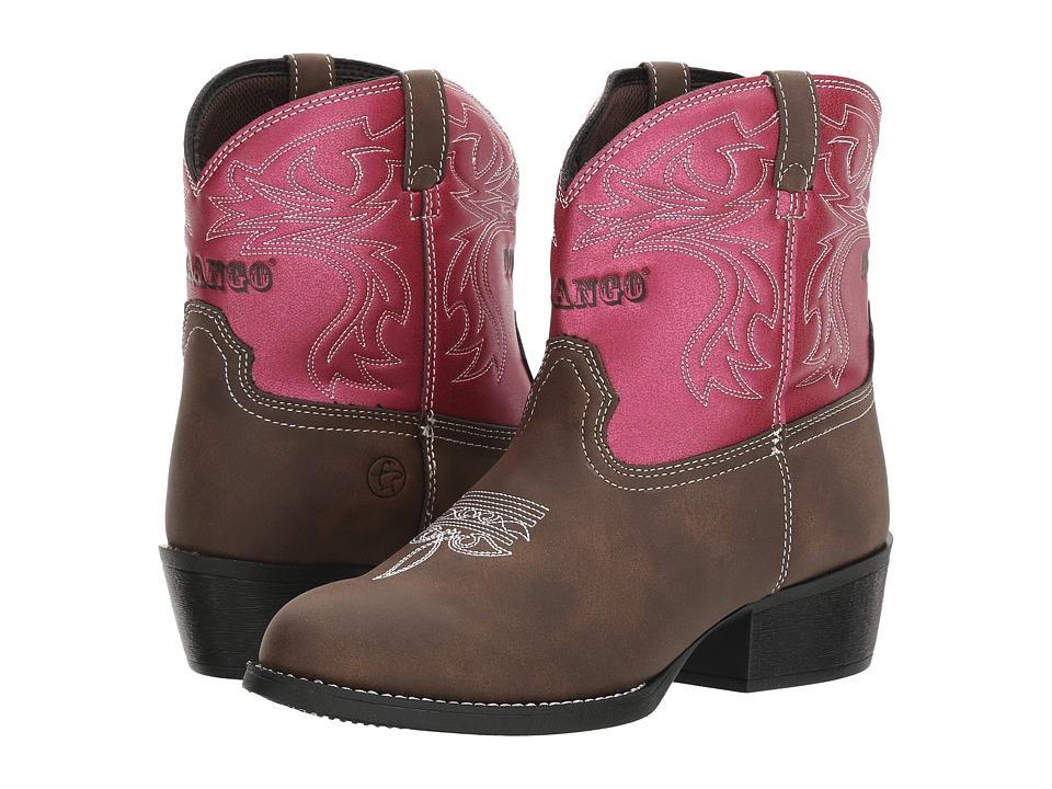 Durango Kids - Lil' Outlaw 6 Western Pink (Toddler/Little Kid/Big Kid) (Dark Brown/Pink) Cowboy Boots