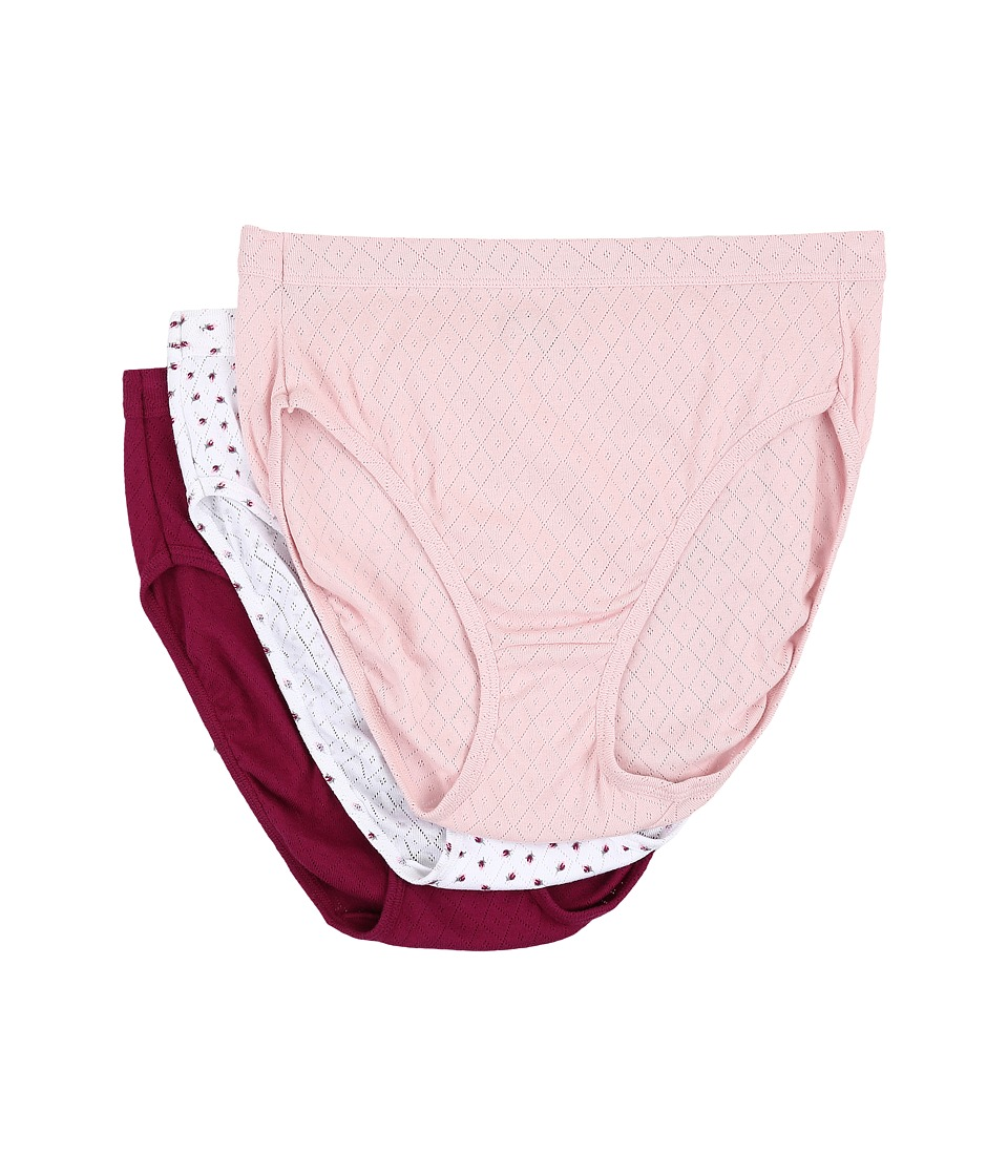Jockey - Elance Breathe French Cut 3-Pack (Pink Shadow/Little Rosebud/Berrylicious) Women's Underwear