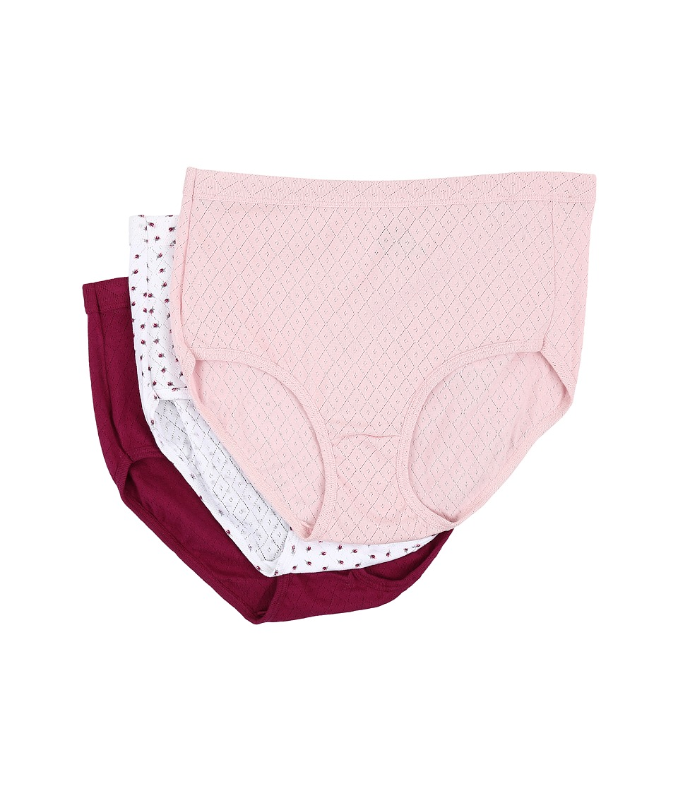 Jockey - Elance Breathe Brief 3-Pack (Pink Shadow/Little Rosebud/Berrylicious) Women's Underwear