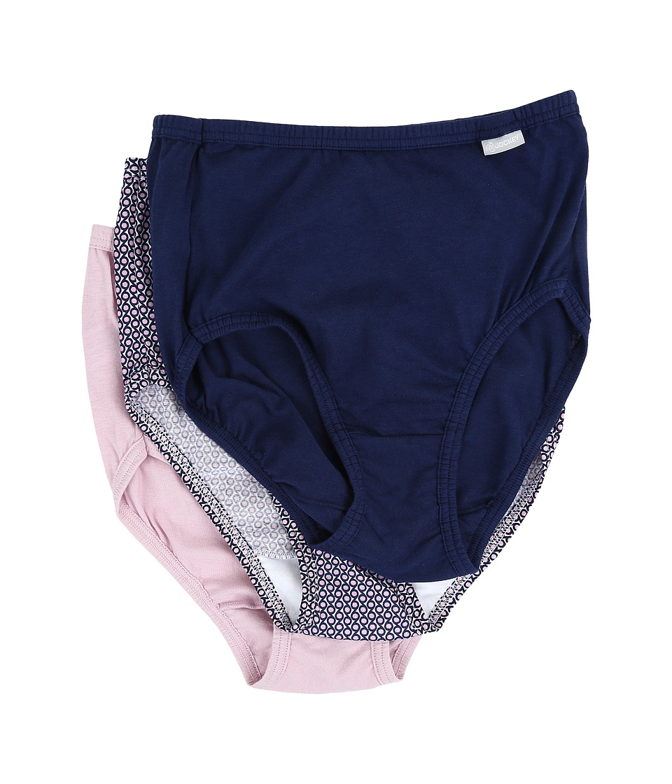Jockey - Elance Brief 3-Pack (Just Past Midnight/Bao Dot Stripe/Smokey Purple) Women's Underwear