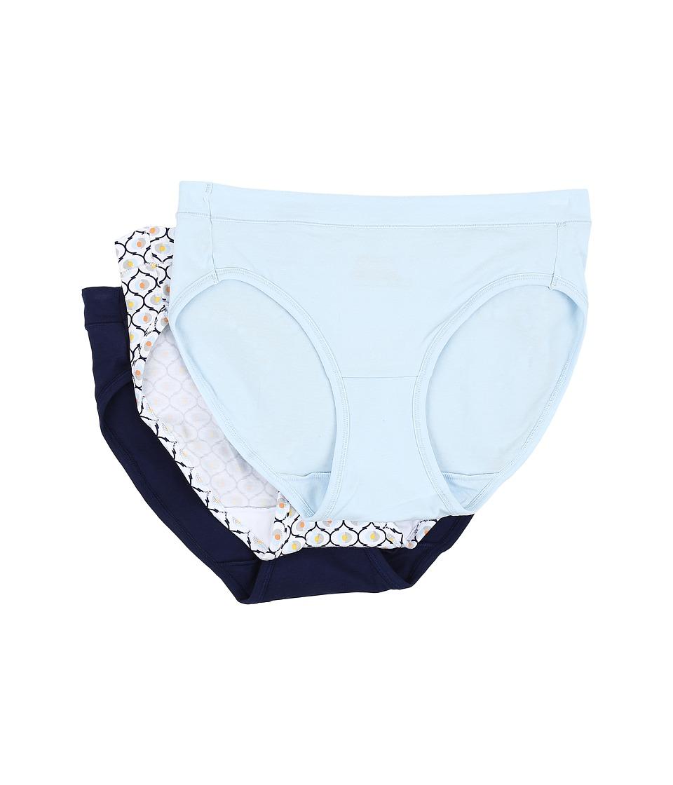 Jockey - Elance Stretch Bikini (Frothy Blue/Geo Bubble/Just Past Midnight) Women's Underwear