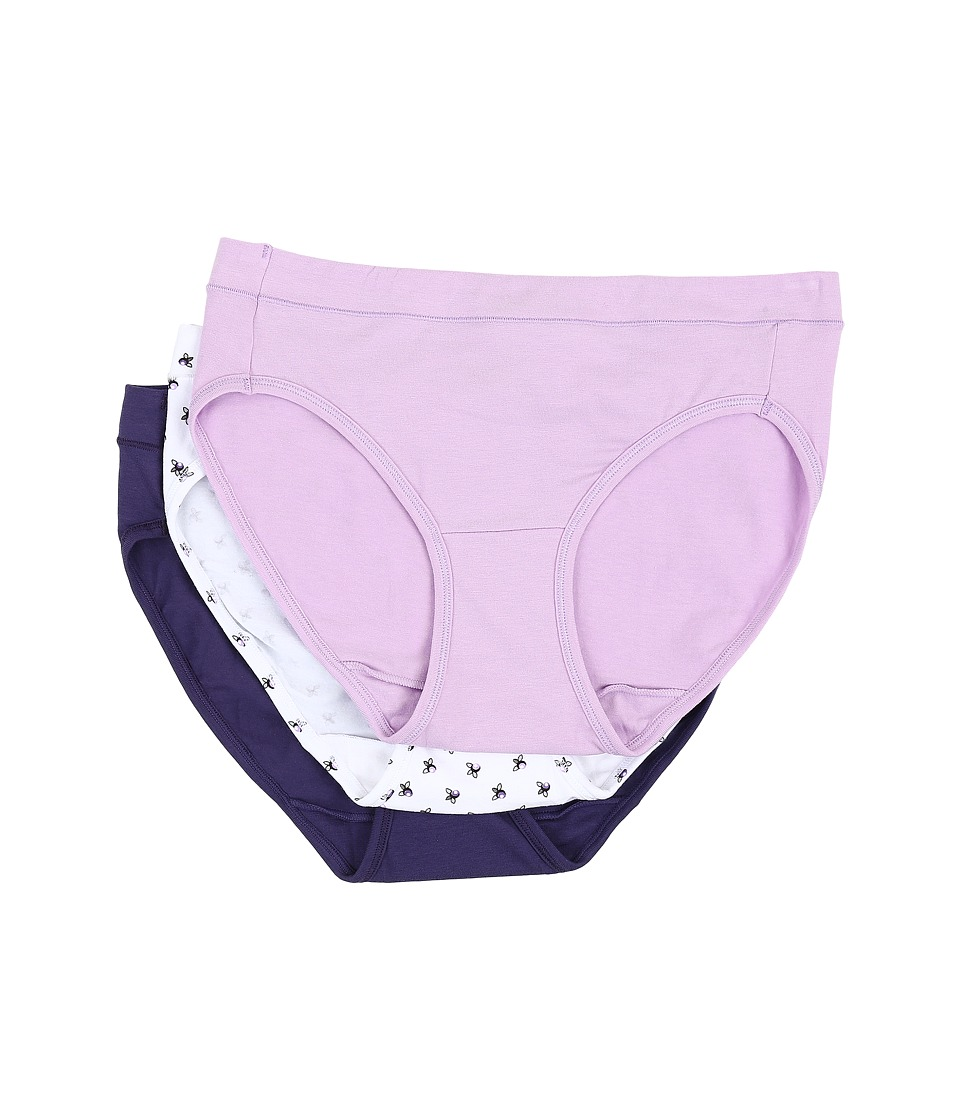 Jockey - Elance Stretch Bikini (Old Soft Lilac/Modern Bud/Faded Violet) Women's Underwear