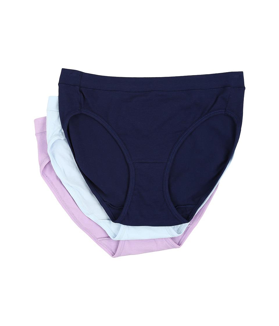 Jockey - Elance Stretch Bikini (Just Past Midnight/Old Soft Lilac/Frothy Blue) Women's Underwear