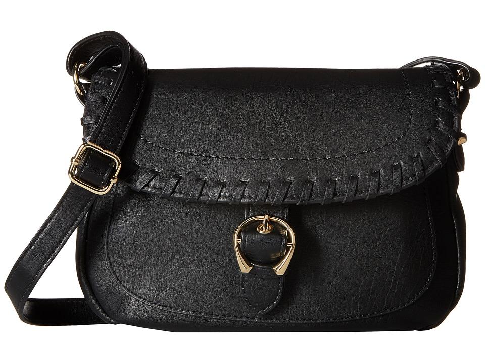 Jessica Simpson - Selita Flap Crossbody (Black) Cross Body Handbags