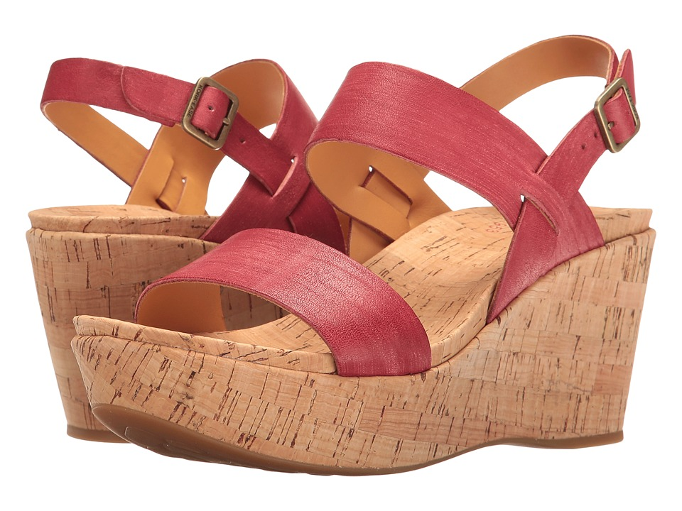 Kork-Ease - Austin (Red Full Grain 2) Women's Wedge Shoes