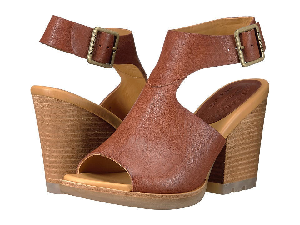 Kork-Ease - Linden (Brown Full Grain) Women's Wedge Shoes